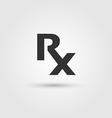 Rx medicine vector image vector image