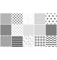 seamless pattern set of geometric textures vector image