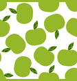 seamless pattern with abstract color apples vector image