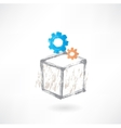 Set block grunge icon vector image