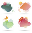set templates for nature luxury spa products logo vector image