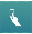 Smart phone finger clicking vector image vector image