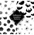 spider pumpkin spider and bat seamless pattern vector image vector image