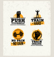 strong fitness gym workout motivation design vector image