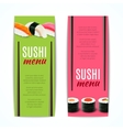 Sushi Banners Vertical vector image vector image