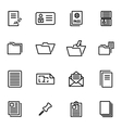 thin line icons - folder vector image vector image