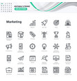 thin line icons set vector image vector image