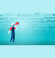 viral marketing with the mainstream channels of vector image vector image