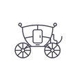 wedding carriage line icon concept wedding vector image