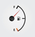 white gas full meter vector image vector image
