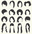 Womans Hair Styles Silhouettes