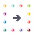 arrow flat icons set vector image