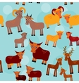 Set of funny animals with cubs Goats sheep cows vector image