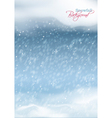 Abstract Winter Snowfall Background vector image