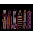 neon city vector image