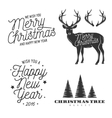 christmas and new year related design elements set vector image