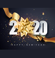 2020 happy new year happy new year 2020 - new vector image vector image
