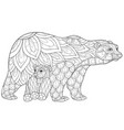 adult coloring bookpage a family bears image vector image