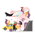 airport taxi service concept for web banner vector image