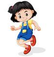an asian girl character vector image