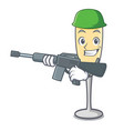 army champagne character cartoon style vector image vector image