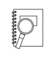 back to school notebook and magnifier accessories vector image vector image