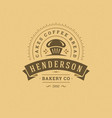 bakery badge or label retro
