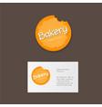 bakery logo or emblem vector image vector image