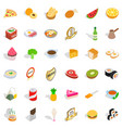 bakery shop icons set isometric style vector image vector image