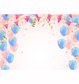 birthday balloons and confetti of balloons vector image