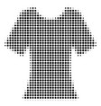black dotted lady t-shirt icon vector image