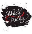 black friday calligraphy text on black brush vector image vector image