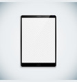 blank tablet template mockup vector image vector image