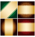 bright golden ribbons on vintage backgrounds vector image