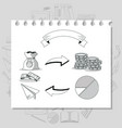 business hand draw cartoon vector image