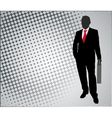 businessman on the abstract background vector image vector image