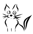Calligraphy cat vector image vector image