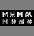 capital letter m modern set for monograms logos vector image vector image