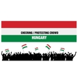 Cheering or Protesting Crowd Hungary vector image vector image