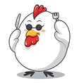 Chicken fork and knife vector image vector image