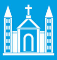 christian catholic church building icon white vector image vector image