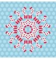 Christmas kaleidoscope vector image vector image