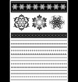 Collection patterned border vector image vector image