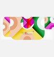 colorful trendy geometric shapes background vector image vector image