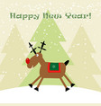 cristmas funny deer with snowflakes new year vector image vector image