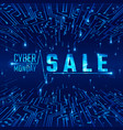 cyber monday sale abstract circuit texture vector image vector image