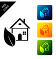 eco friendly house icon isolated on white vector image