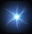 electric lightning starburst realistic image vector image vector image