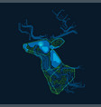 electronic deer vector image