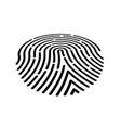 fingerprint icon black vector image